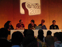 Hot topics panel with Molly Holzschlag, Jon Hicks, Jeremy Keith, Eric Meyer, and Tantek Çelik